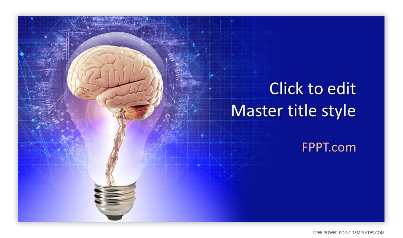 This introduction slide features a brain inside a lightbulb.
