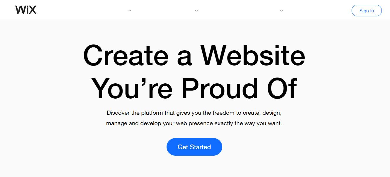 Wix free blog website
