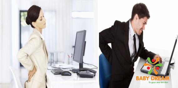 Ngồi máy tình hàng giờ liền khiến bạn đau lưng, mất tập trung