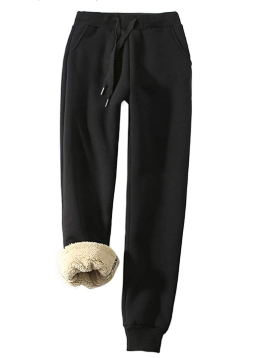 gifts for dog moms sherpa lines sweatpants