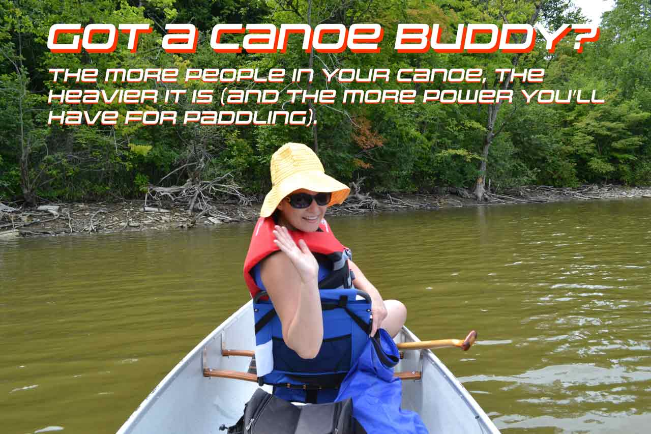 A second paddler in a canoe can help to drastically increase the speed a canoe travels.