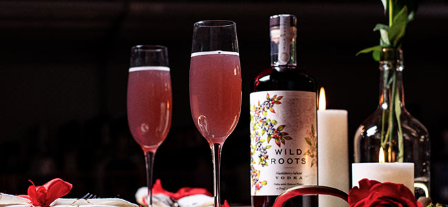 A Valentine's Day Cocktail by Wild Roots Spirits