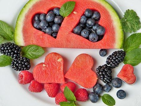 ruit, Watermelon, Fruits, Heart