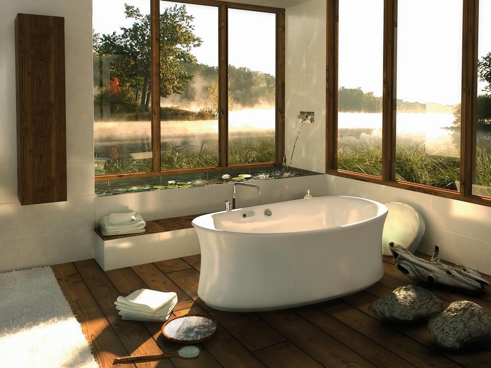Ấn tượng, gần gũi với thiết kế phòng tắm hiện đại, bắt mắt