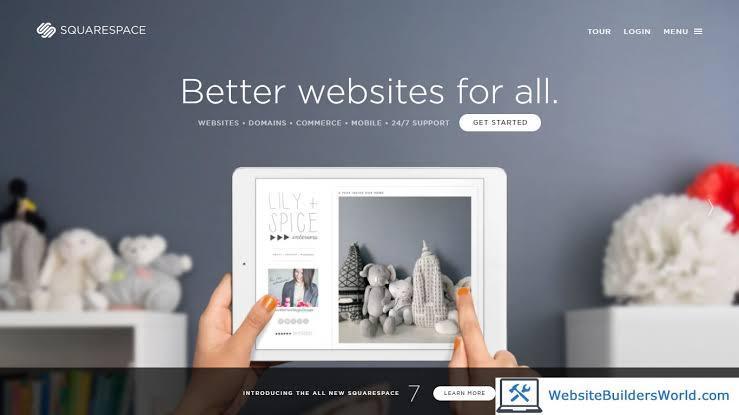 Squarespace website builder for artists