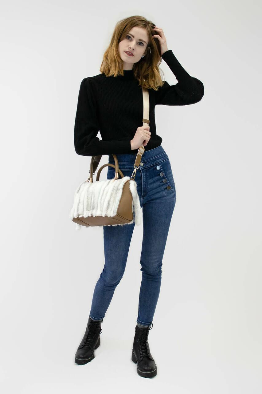 Mink Fur Handbag with Tails