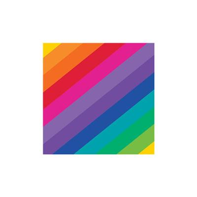 Discount Party Supplies Rainbow - Napkins Cocktail Pack of 16