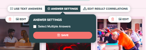 how to set answer settings