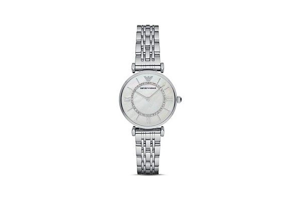 Emporio Armani Gianni Mother-of-Pearl Dial Watch from Bloomingdale's