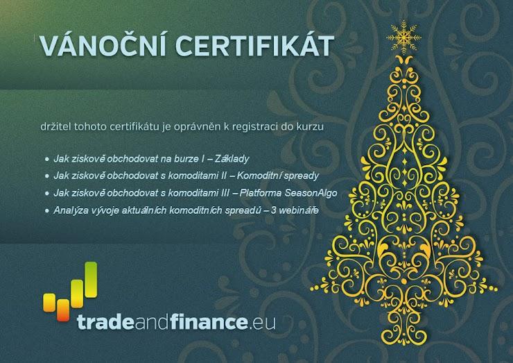 Příklad vzorového certifikátu. Konečná podoba bude vytvořena dle vaší objednávky.