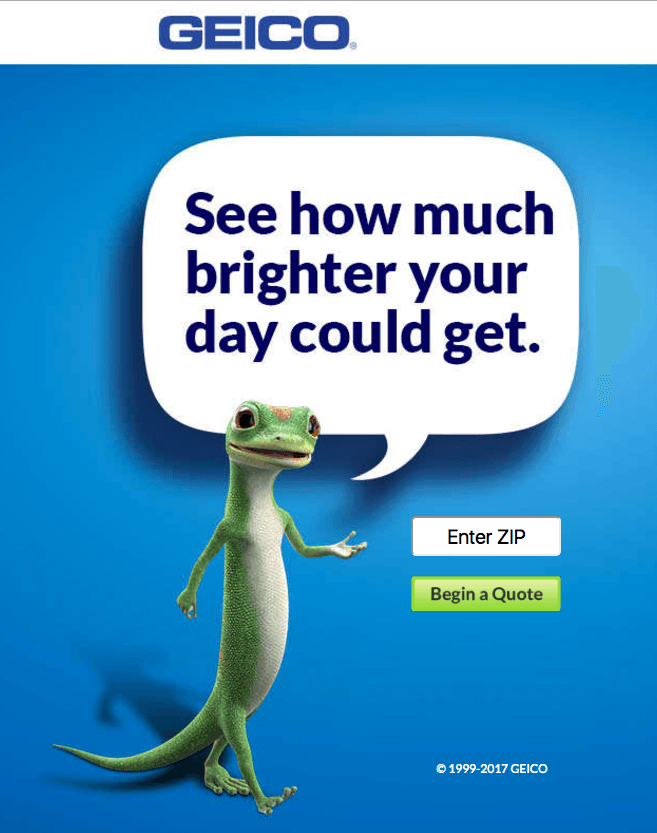 Great landing pages Geico