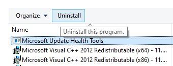 Uninstall the third-party antivirus