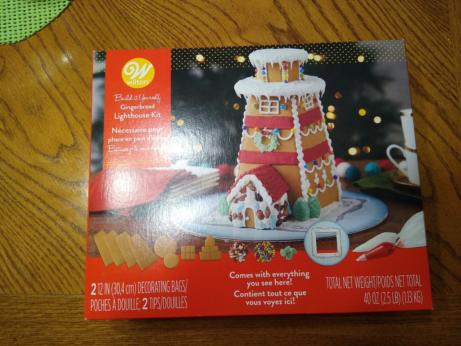 gingerbread lighthouse kit