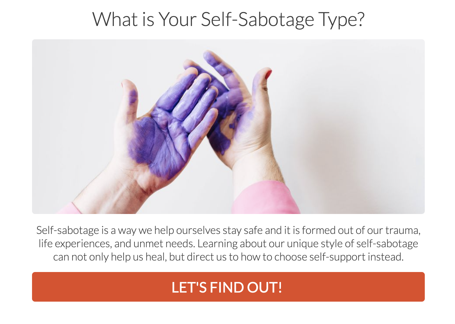 what is your self-sabotage type quiz cover