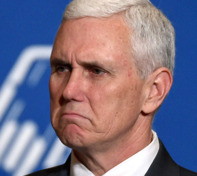 Image result for pence weird face