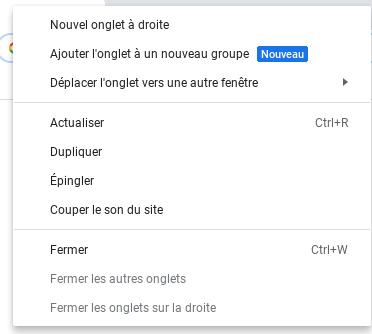 Savoir utiliser les onglet de Google Chrome