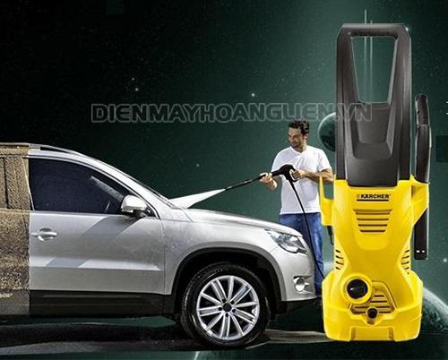 máy bơm nước cao áp rửa xe ô tô mini