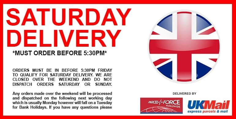 saturday next day delivery for cream chargers and nitrous oxide