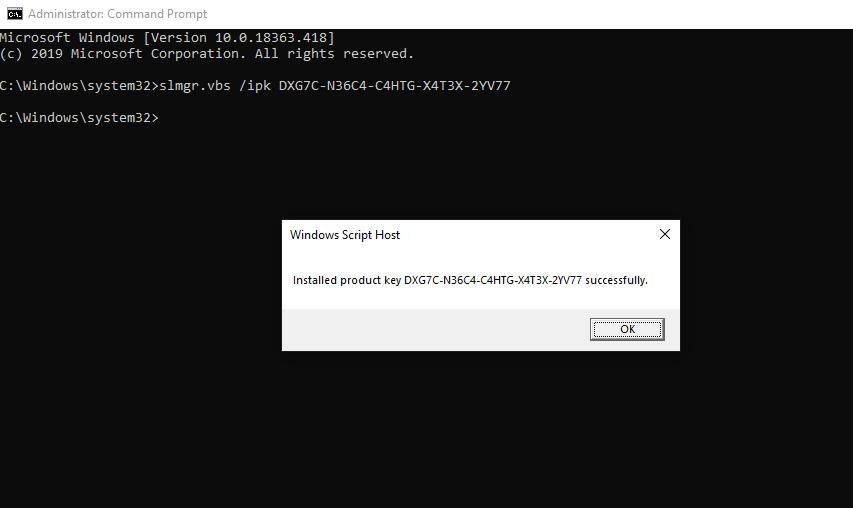 مفتاح ترقية Windows 10 Pro إلى Pro for Workstations