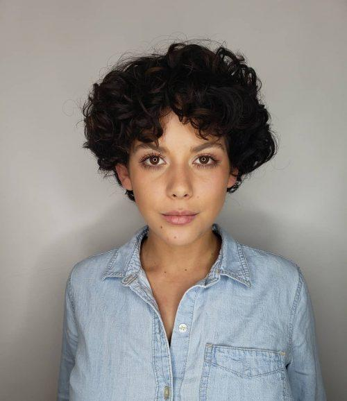 Pixie cut for thick curly hair