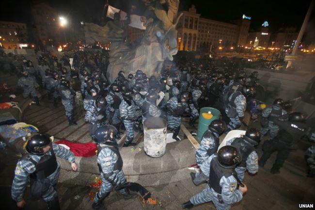 Разгон студенческой демонстрации в Киеве 30 ноября 2013 года