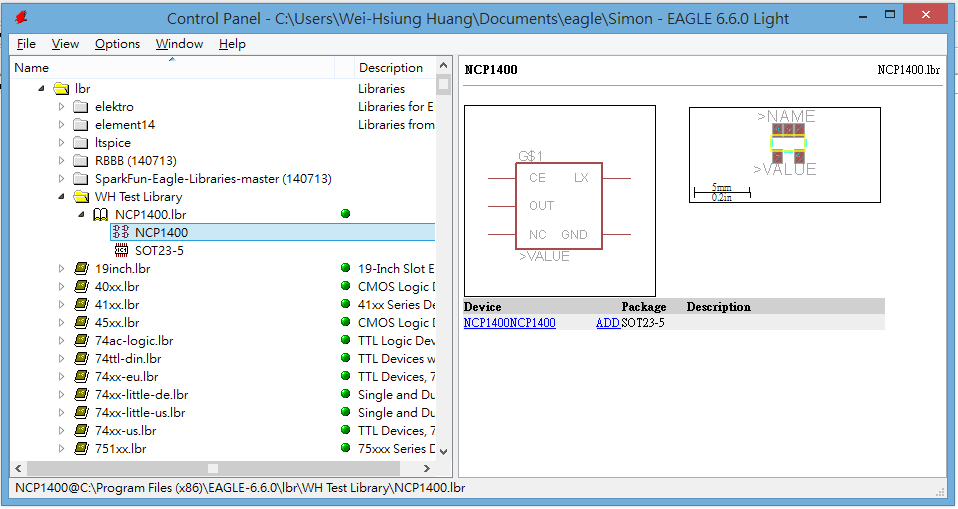Blog of Wei-Hsiung Huang: Eagle PCB Tutorial: Creating a new part
