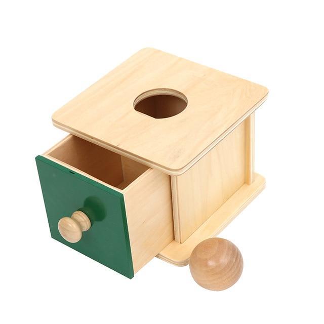 boite à tiroir jeu bois balle montessori