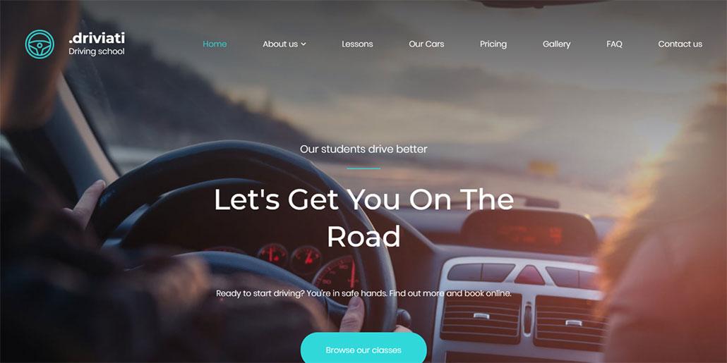 design de site para autoescola driviati
