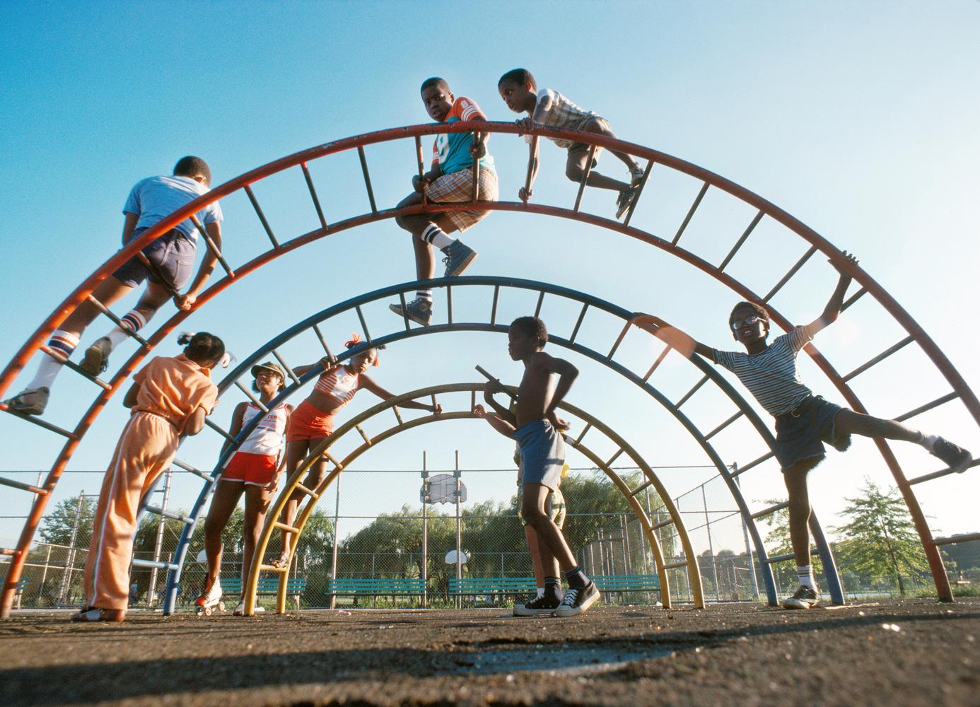Gary Settle kids in the park