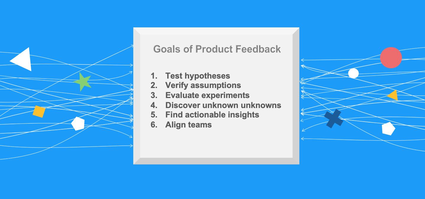 Product feedback goals