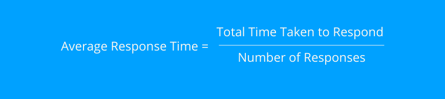 how to calculate average response time