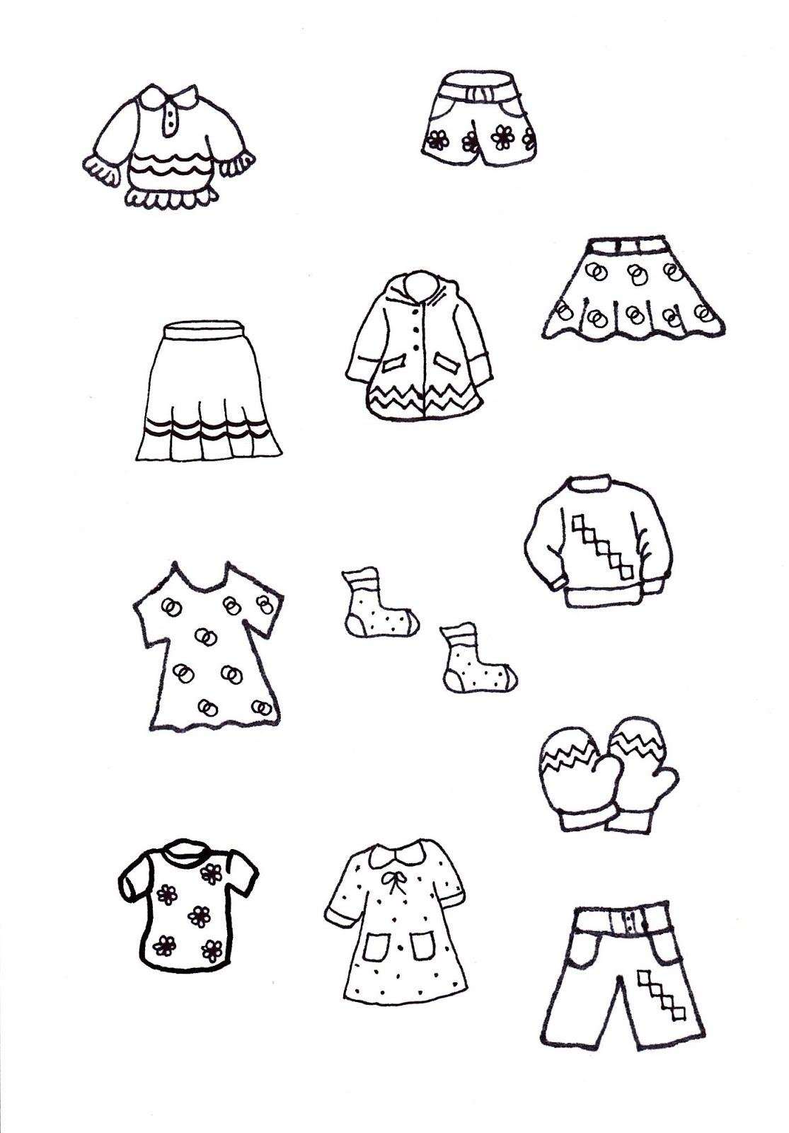 téli öltözködés nyomtatható feladatlapok
