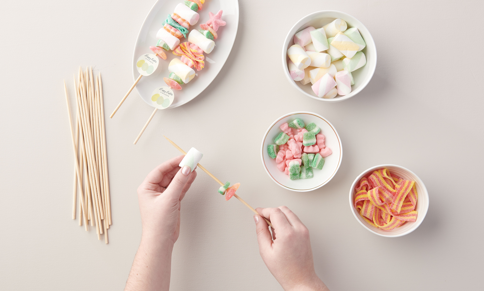 How to make Easter DIY Candy Kabobs