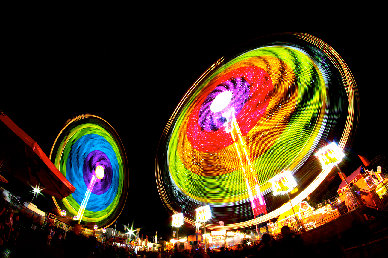 carnival lights at the fair