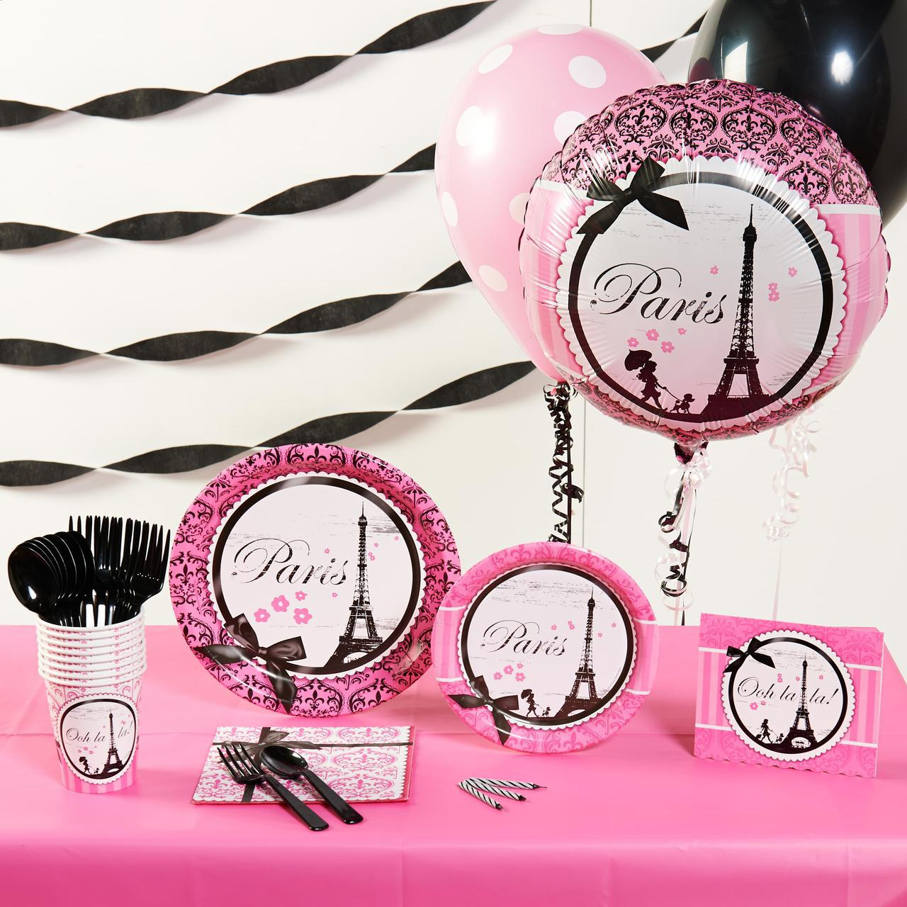 Paris damask basic party pack