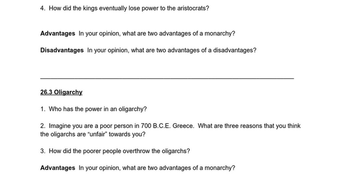 advantages of monarchy