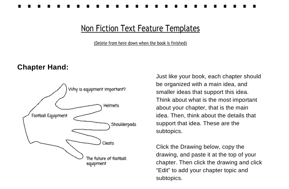Edtech Tofu: A 3-5 Non-Fiction Google Template with Text Features