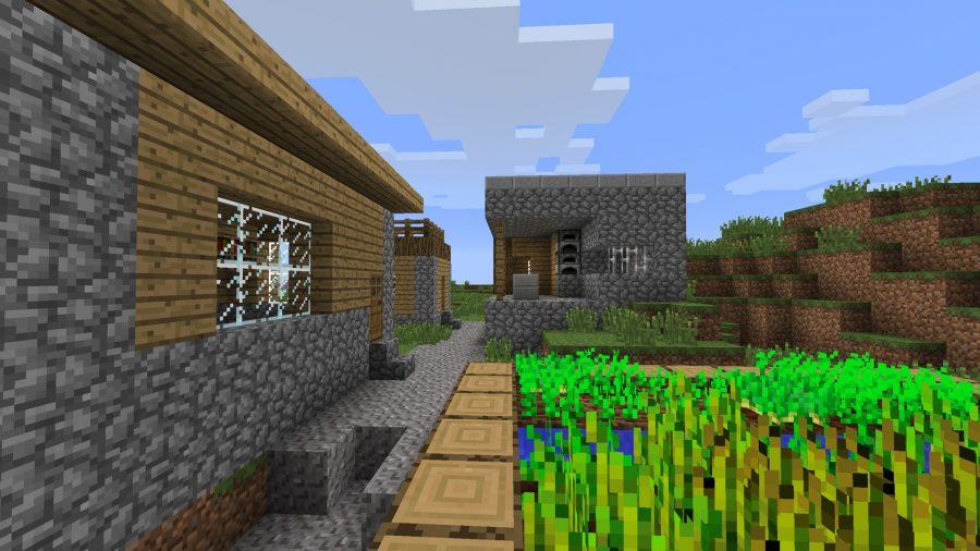 minecraft basic village at spawn