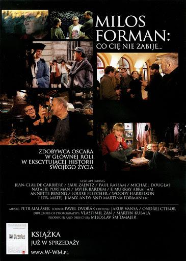 Tył ulotki filmu 'Milos Forman: Co Cię Nie Zabije...'