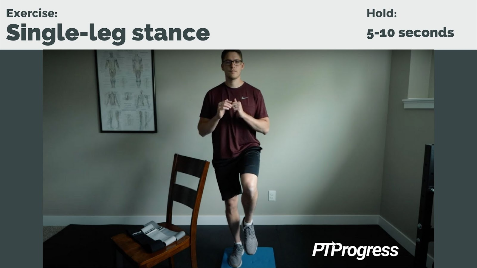 single-leg stance for knee pain