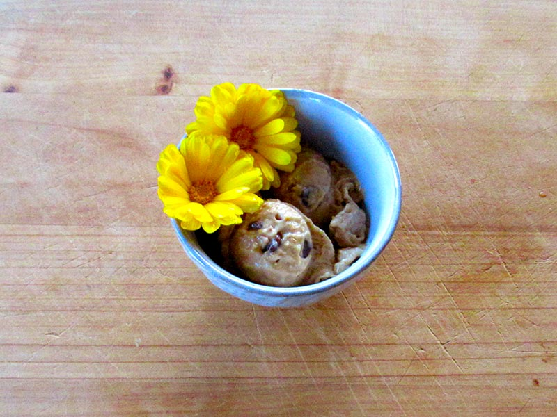 Serve and enjoy Nutty for Ice Cream guilt-free healthy ice cream.