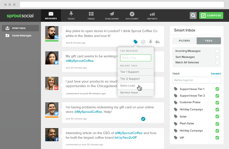 sprout social selling tool.