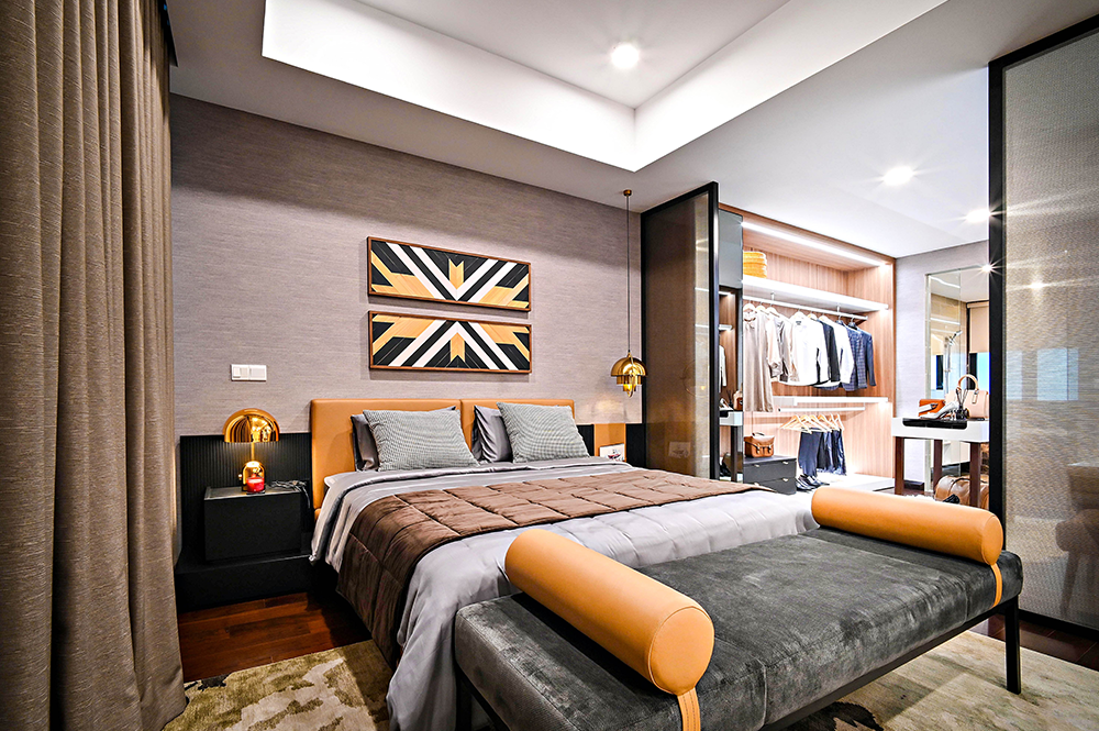 Custom home design idea for master bedroom
