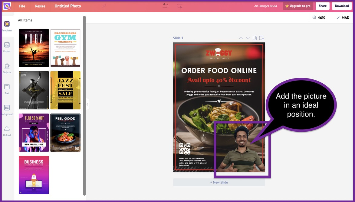 How to create a business flyer - step 7 -screenshot 3