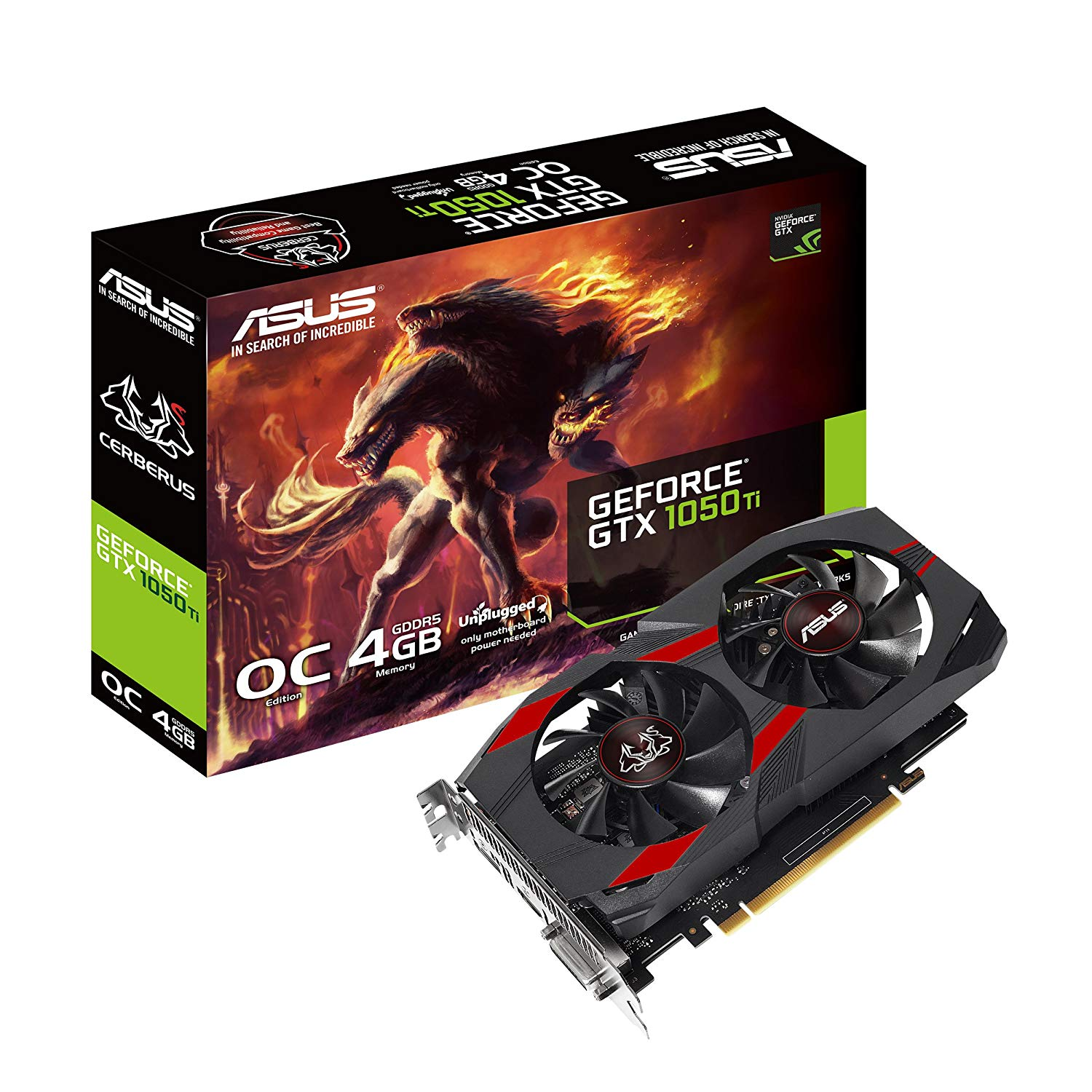 ASUS Cerberus GeForce GTX 1050 Ti 4GB OC Edition GDDR5 Gaming Graphics Card
