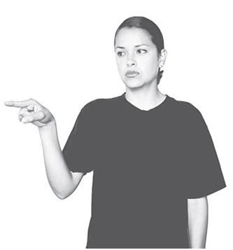 Lenguaje de señas el o ella