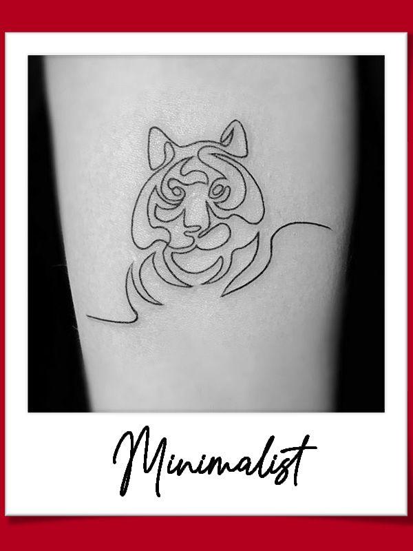 ลายสักเสือ มินิมอล