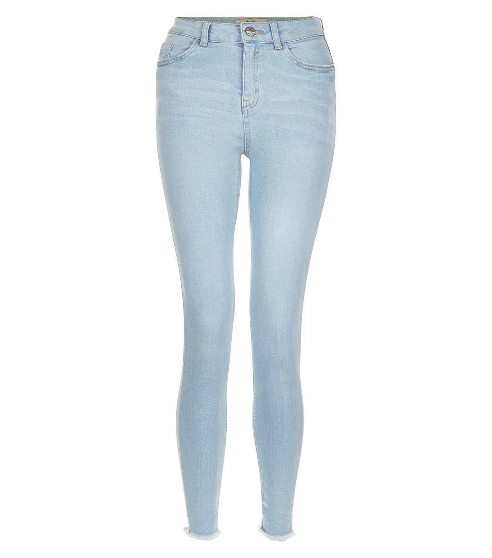 High Waisted Blue Skinny Jeans