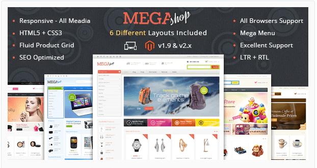 Mega Shop - Magento food theme