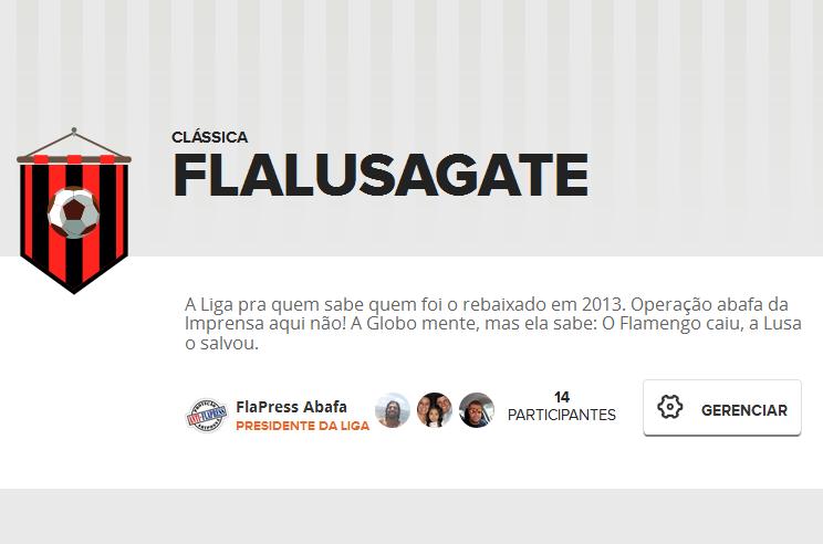 Liga FLALUSAGATE no Cartola FC